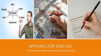 Applying For Jobs 101 Lesson