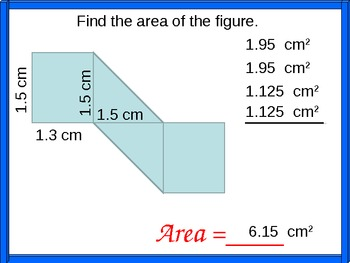 Applying Geometric Formulas and Handout, Math PowerPoint