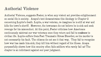 """Applying """"How to Read Literature Like a Professor"""" Concepts on Literary Violence"""