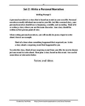 Applying Narrative Writing Skills, Grade 4 (Common Core Worksheets)