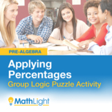 Applying Percents Group Activity - Logic Puzzle | Good for