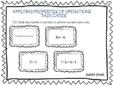 Applying Properties of Operations-TASK CARDS