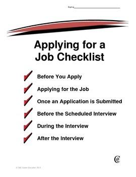 Applying for a Job Checklist