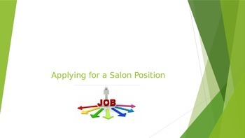 Applying for a Salon Position