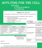 Applying for the Cell - Cell Organelle Function