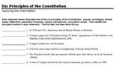 Applying the 6 Principles of the Constitution