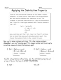 Applying the Distributive Property of Multiplication