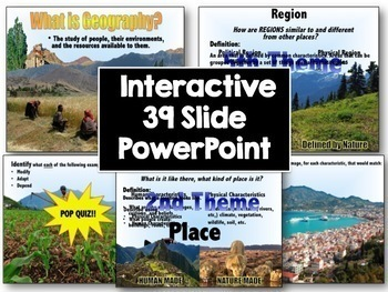 Applying the Five Themes of Geography to the World