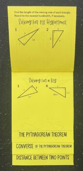 Applying the Pythagorean Theorem (Foldable)