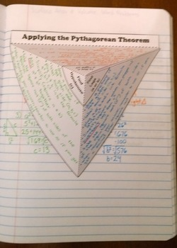 Applying the Pythagorean Theorem Foldable Notes SOL(2016) 8.9
