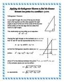 Applying the Pythagorean Theorem to find the distance between two points