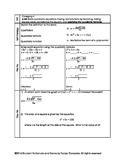 Applying the Quadratic Formula