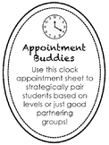 Appointment Buddies- Partnering Sheet