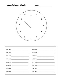 Appointment Clock