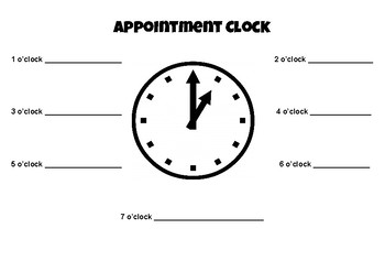 Appointment Clock (Partner Work)