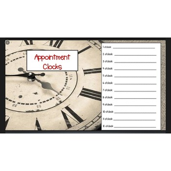 Appointment Clocks Version #2-Cooperative Learning Activity to Form Partners