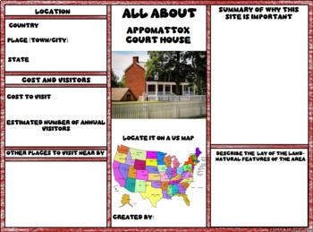 Appomattox Court House Digital Research Brochure in Google Slides™