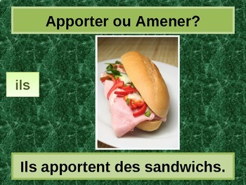 Apporter ou Amener French Verbs PowerPoint