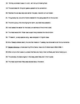 Appositive Identification Worksheet by Bamajess | TpT