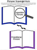 Appositive Phrases and Prepostional Phrases Scavenger Hunt & Worksheet Practice