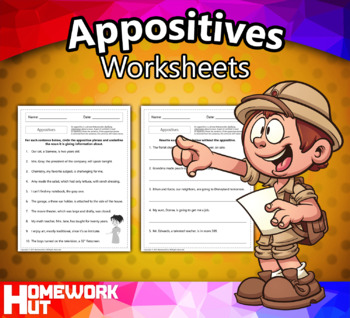 Appositive Phrases Worksheets
