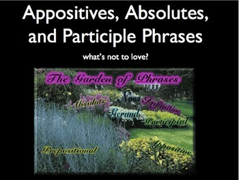 Appositives, Absolutes, and Participles grammar lesson