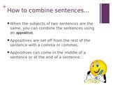 Appositives (Combining Sentences) PowerPoint Presentation