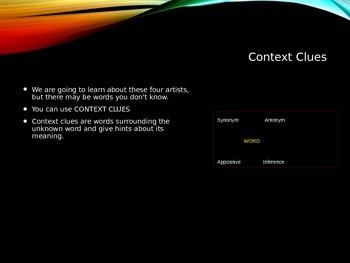 Appositives: Context Clues & Renaissance Artists