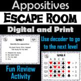 Appositives: Grammar Escape Room - ELA