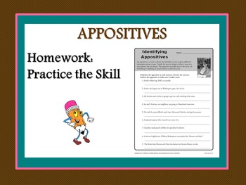 Appositives Lesson and Resources Bundle