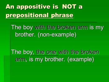 Appositives Please!