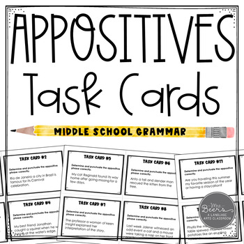 Appositives Task Cards for Middle School
