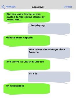 Appositives: Texting Worksheet