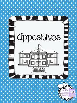 Appositives Worksheet and Assessment
