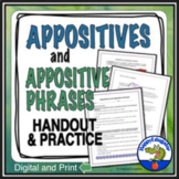 Appositives and Appositive Phrases Handout & Practice w/ Easel Activity