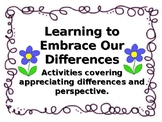 Appreciating Differences-3 Activities with Reading, NO PRE