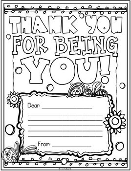 Appreciation Coloring Pages | Thank You Coloring Pages