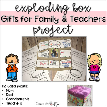 Exploding Boxes for Mother's Day, Father's Day, Grandparents Day and Teachers