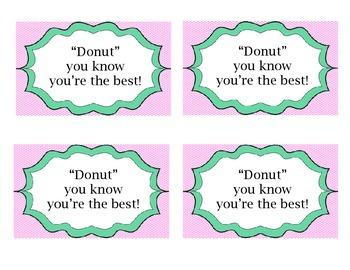 Appreciation Gift Tag- Donuts