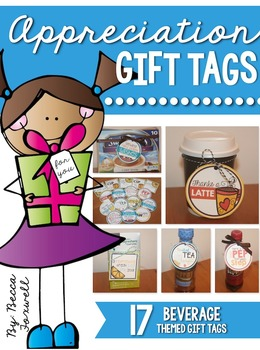 Appreciation Gift Tags {Beverage Themed Gift Tags}