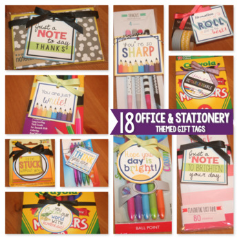 Appreciation Gift Tags {Office & Stationery Themed Gift Tags}