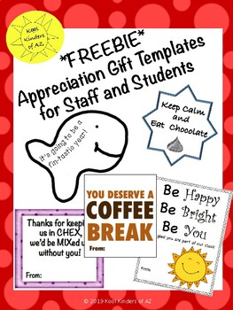 Appreciation Gift Tags for Staff and Students - FREEBIE