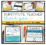 Substitute Teacher Thank You Gift Tags