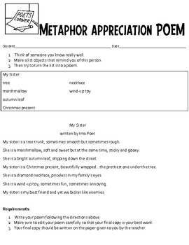 Appreciation Poetry - Metaphor Poems for Special Occasions