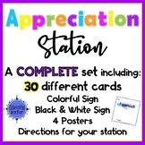 Appreciation Station Cards, Posters, Signs - COMPLETE SET