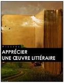 Apprécier des oeuvres littéraires