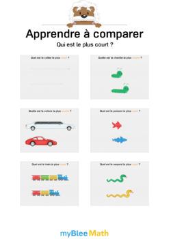 Apprendre à comparer 3 - Qui est le plus court ?