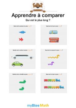 Apprendre à comparer 4 - Qui est le plus long ?