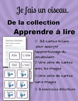 Apprendre à lire: Je fais un oiseau - Learn to Read French: Je fais un oiseau