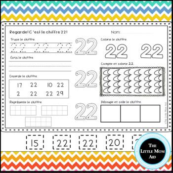 Apprends les chiffres 21 à 30 | Number Practice 21 to 30